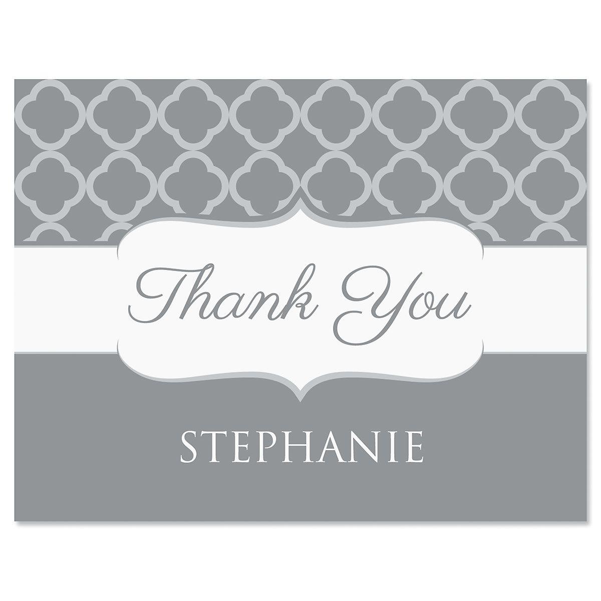 Renaissance Thank You Cards-Gray-613875B