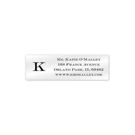 Clear Simple Initial Address Label