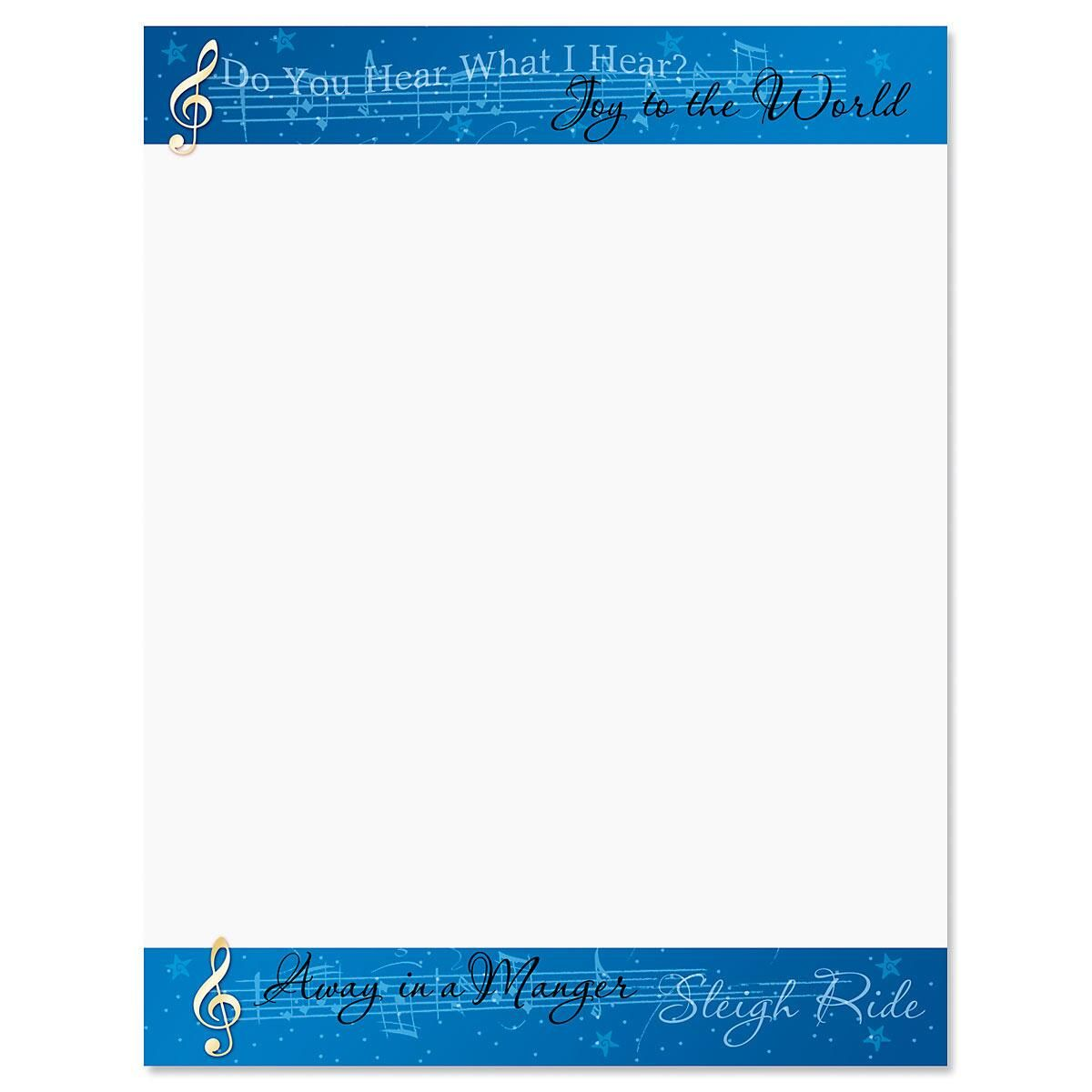 Songs of the Season Letter Papers