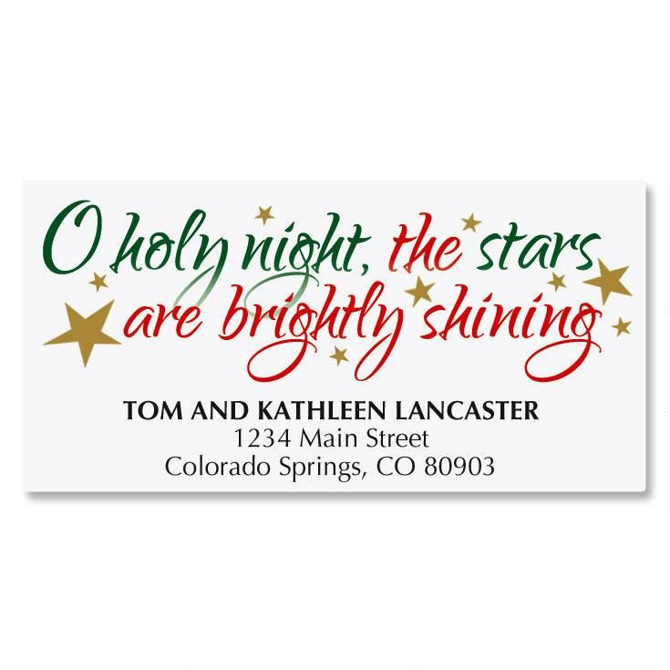 O Holy Night Deluxe Address Labels