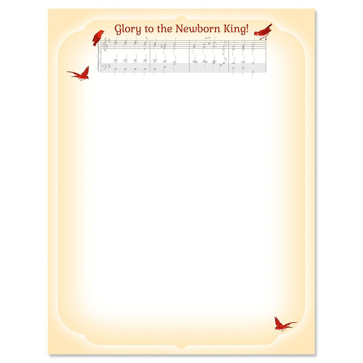 Musical Carol Letter Papers