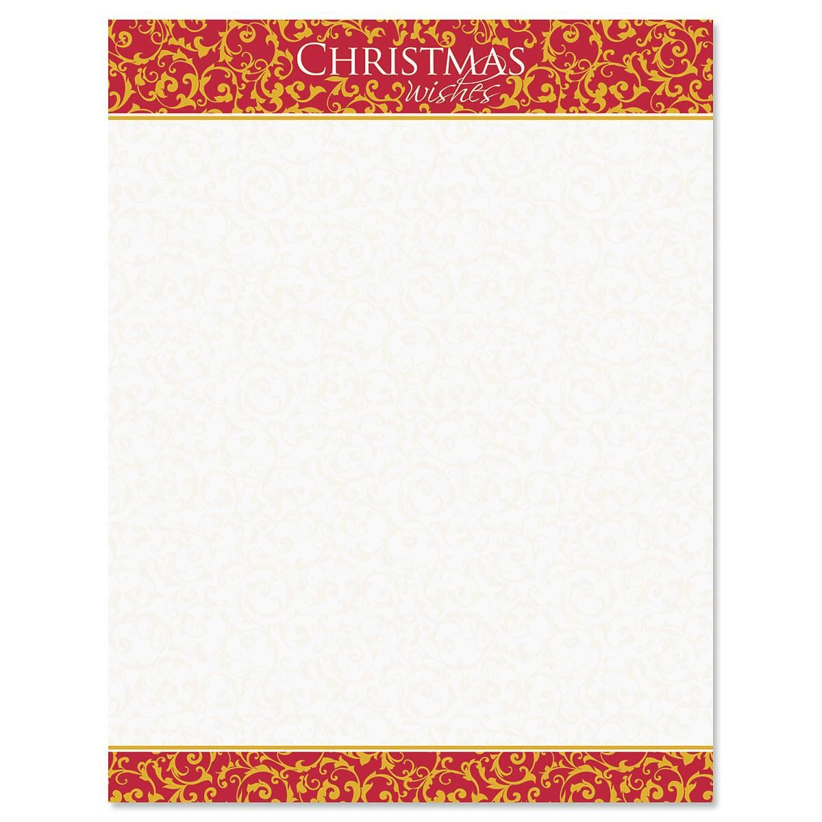 Christmas Wishes Letter Papers