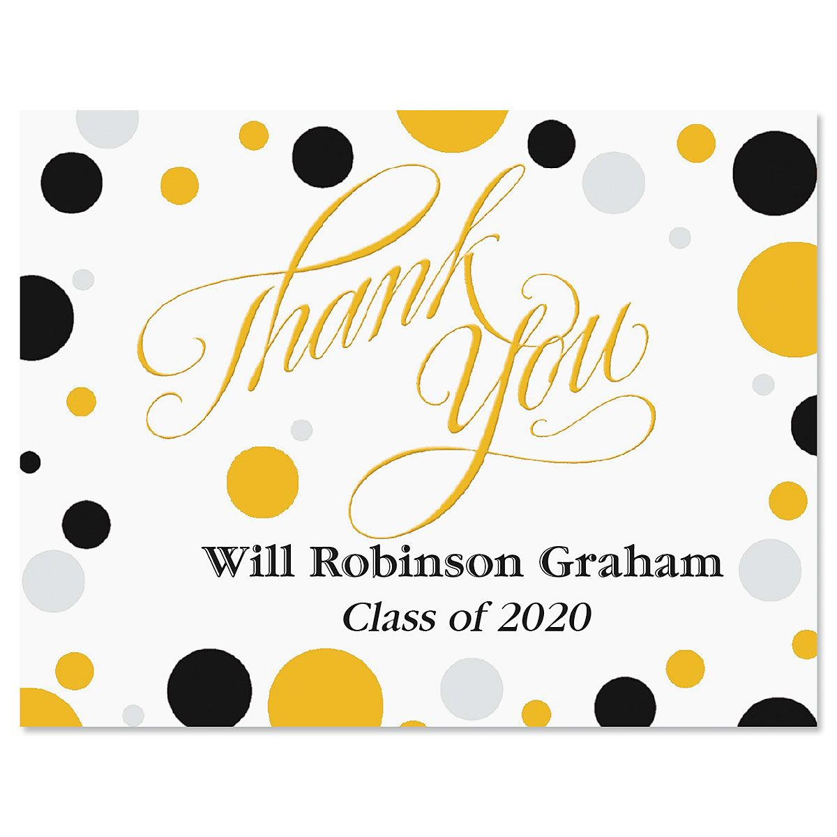 Dots Graduation Thank You Note Cards