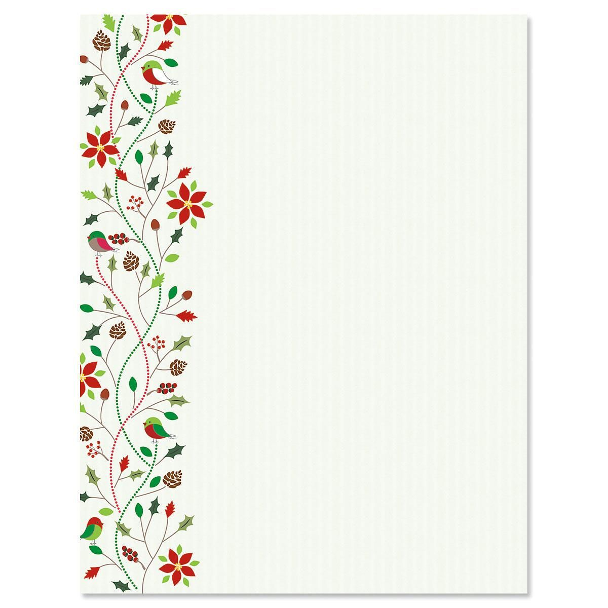 Holiday Twist Letter Papers
