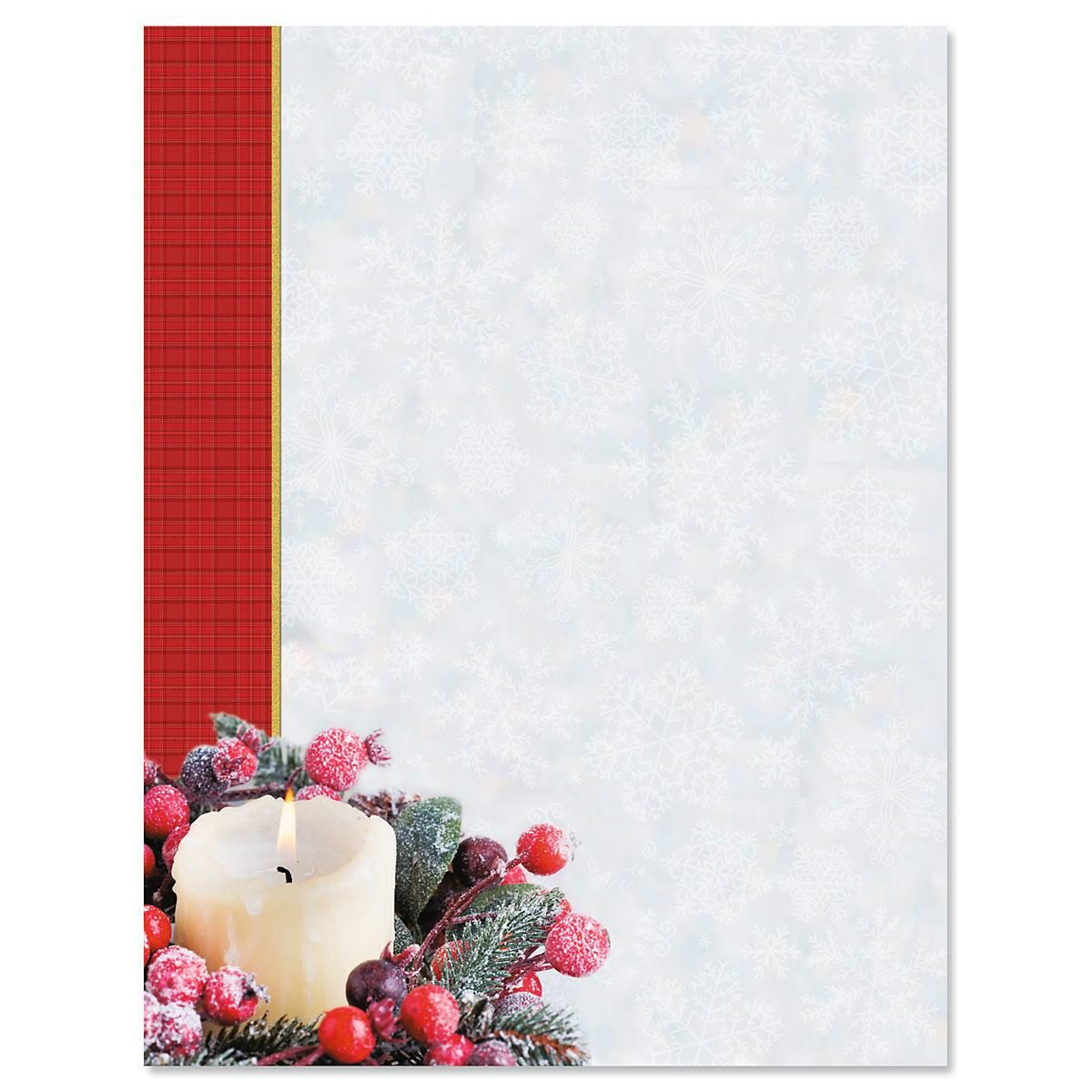 Candlelight Holiday Letter Papers