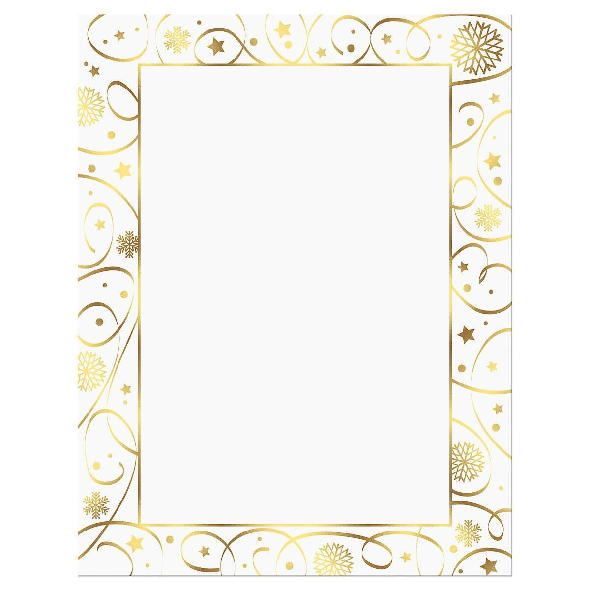 Ribbon Border Deluxe Letter Papers