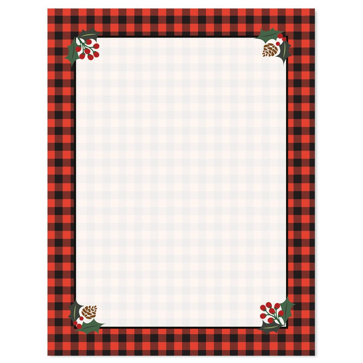 Buffalo Plaid Letter Papers