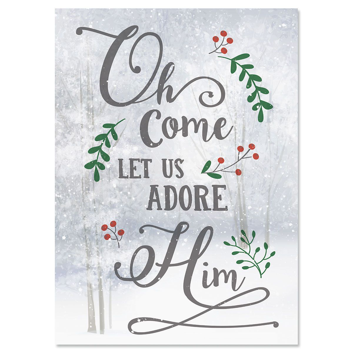 O Come Adore Christmas Cards
