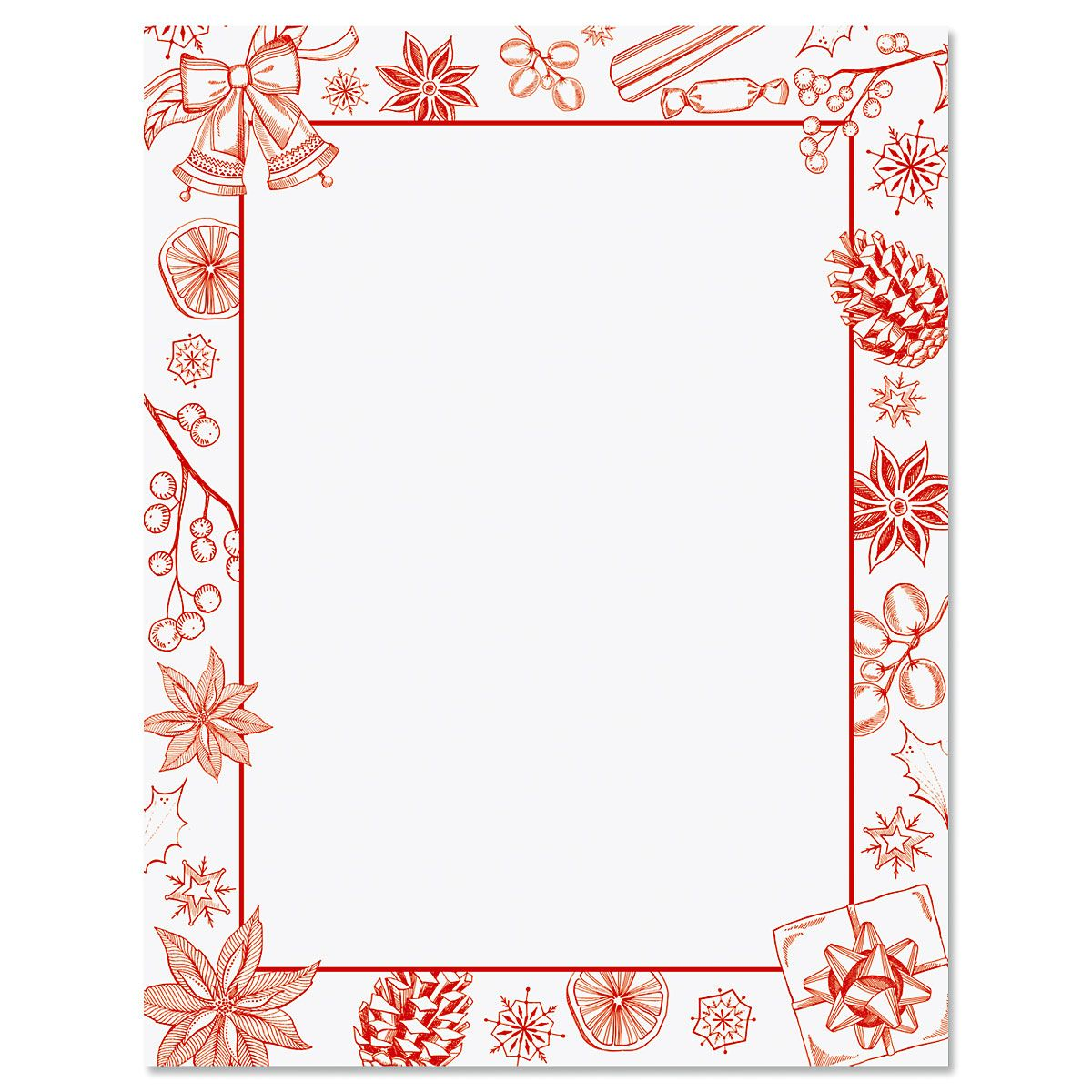 Holiday Sketch Letter Papers
