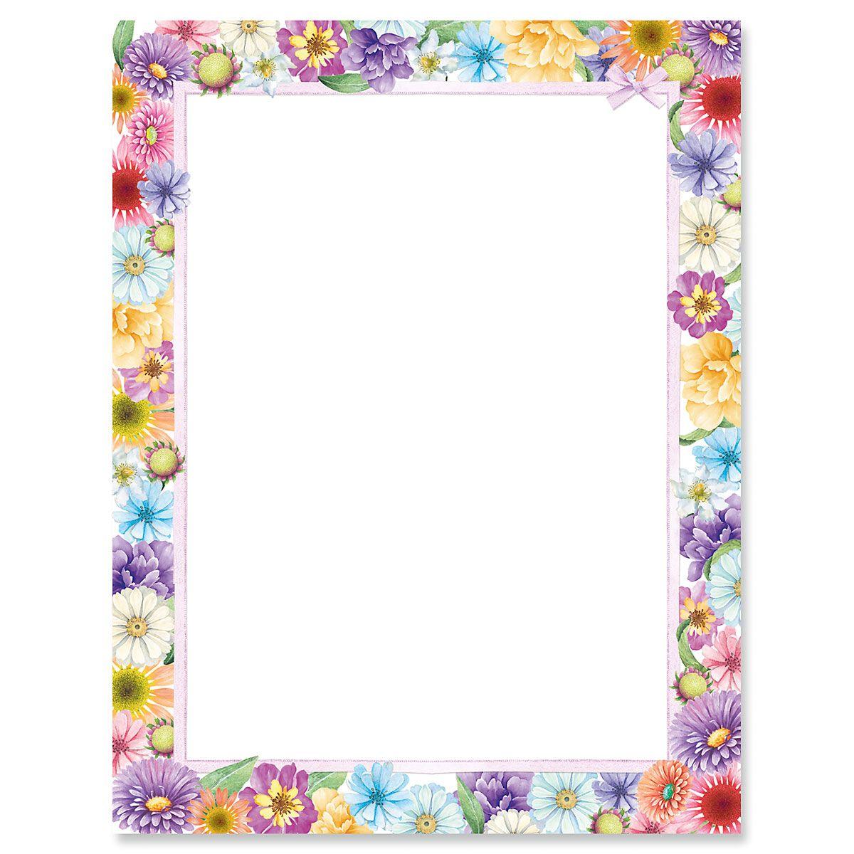 Spring Floral Letter Papers
