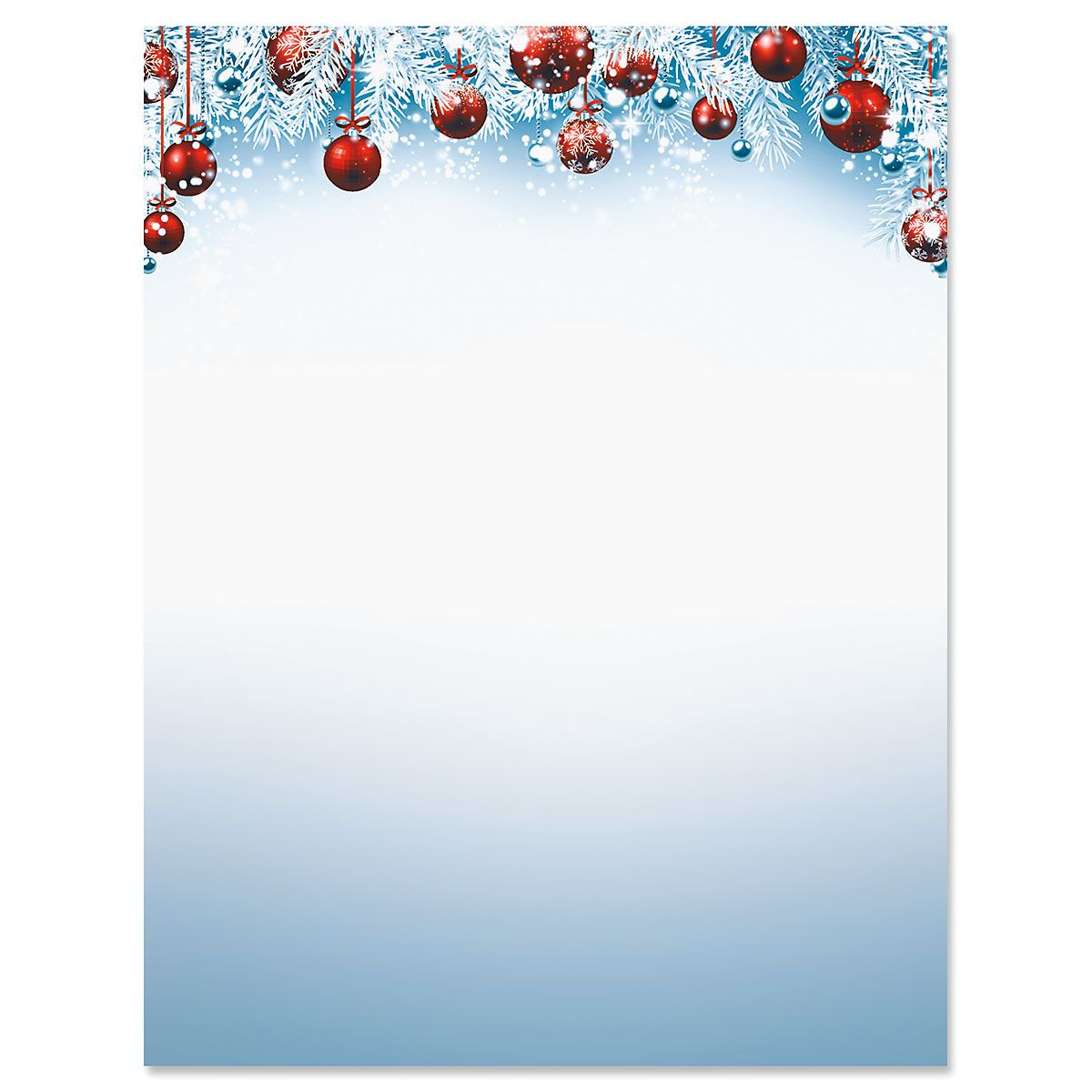 Red Ornaments Deluxe Letter Papers