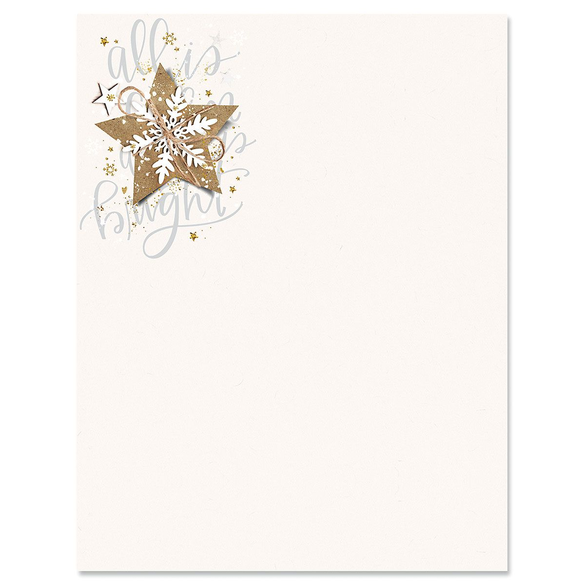Christmas Star Letter Papers