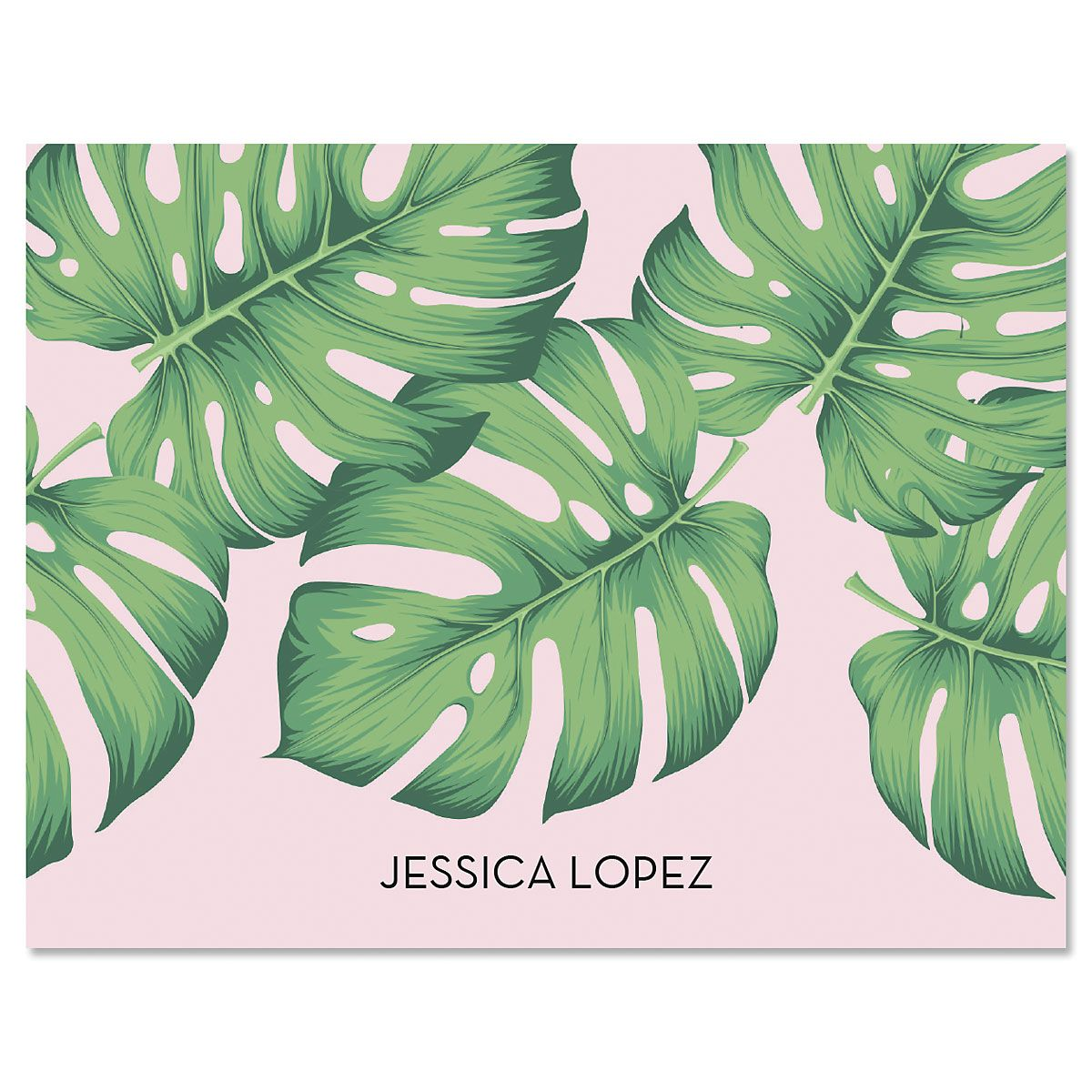 pink palms note cards