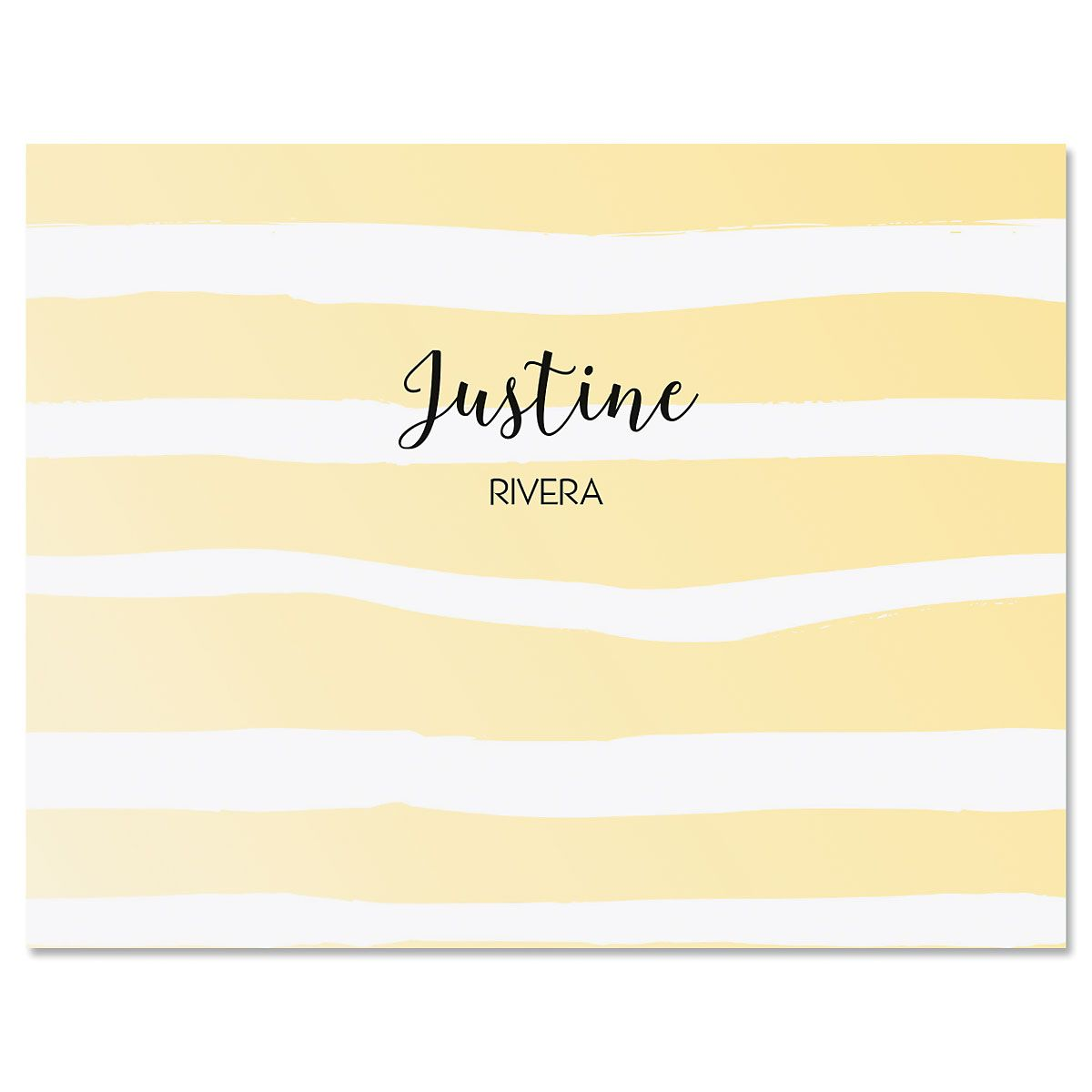 Pastel Island Stripes Note Cards