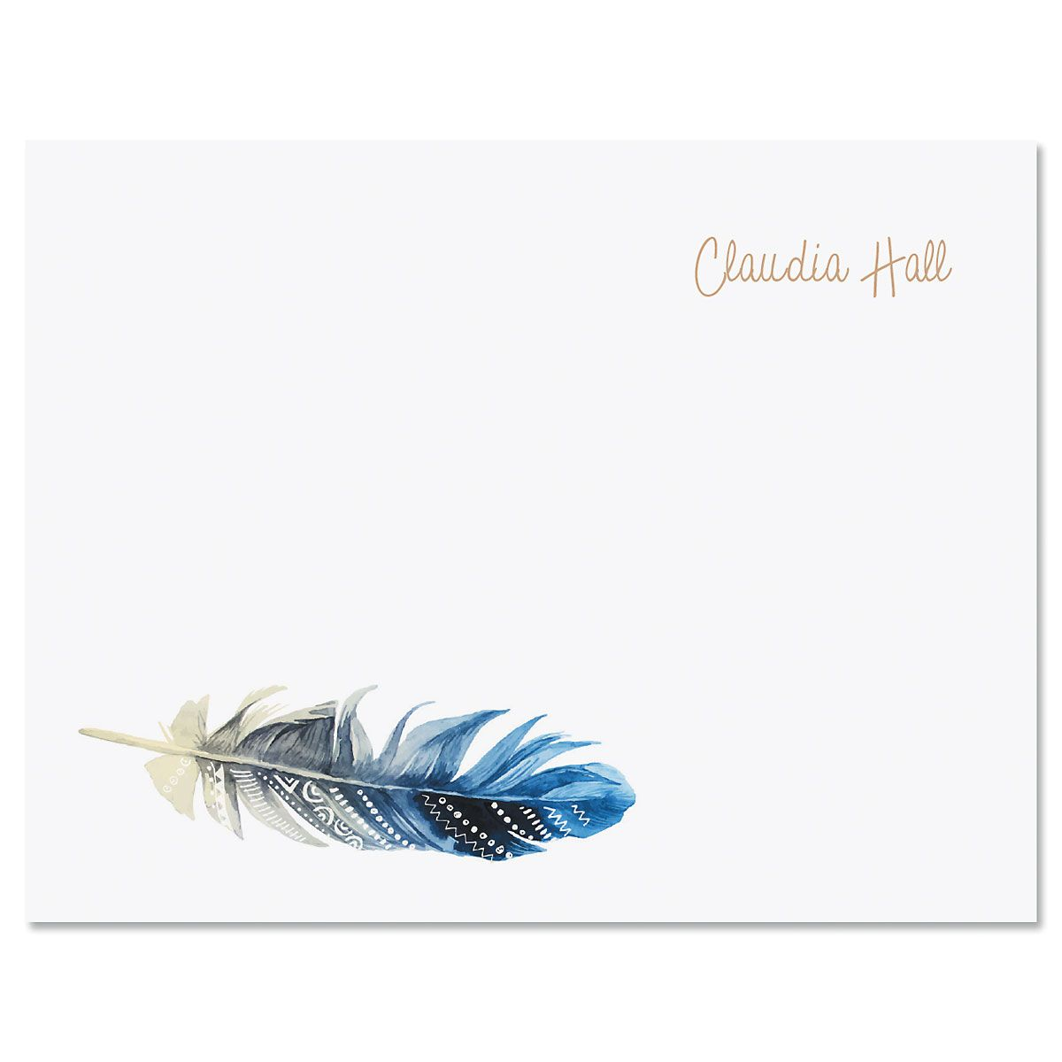 Boho Feather Note Cards