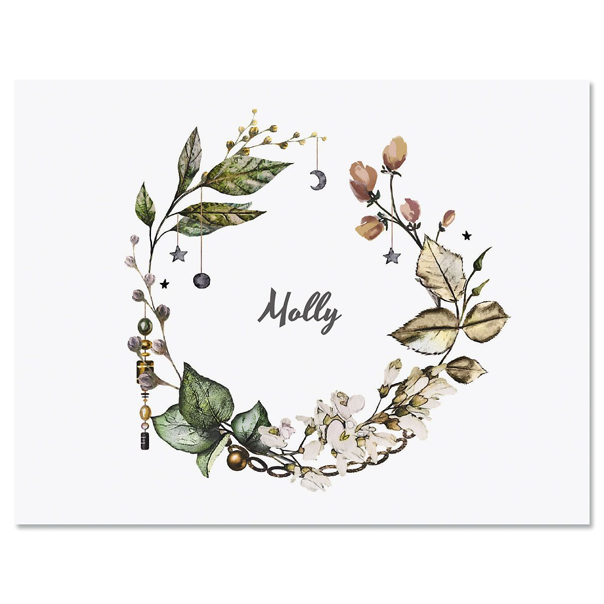 Whimsical Wreath Note Cards
