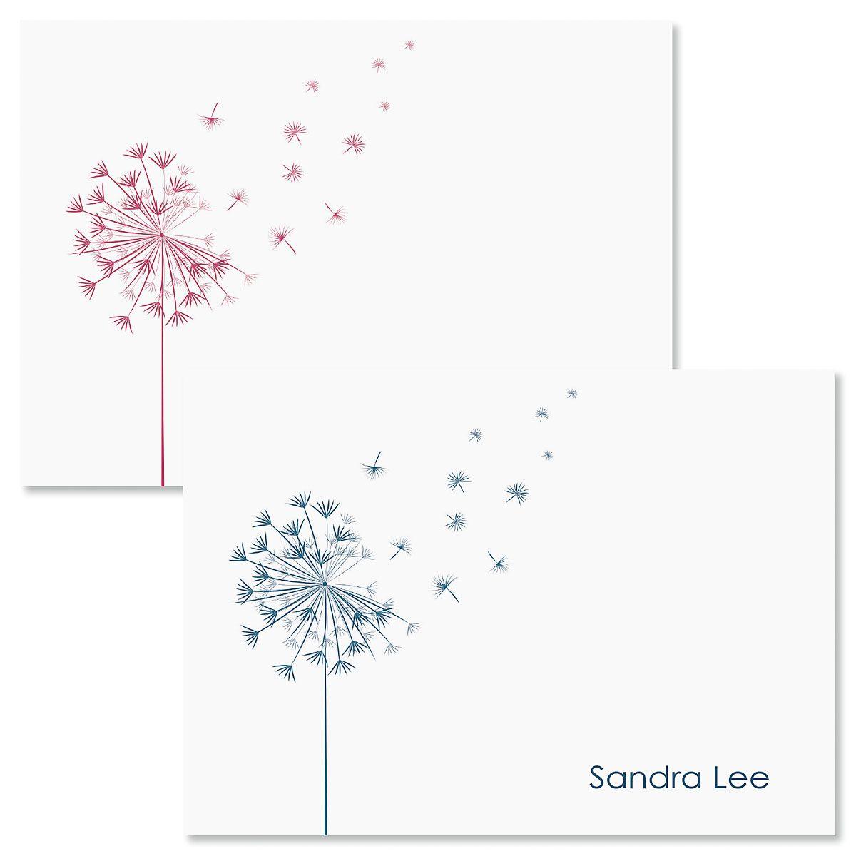 Wispy Dandelion Note Cards