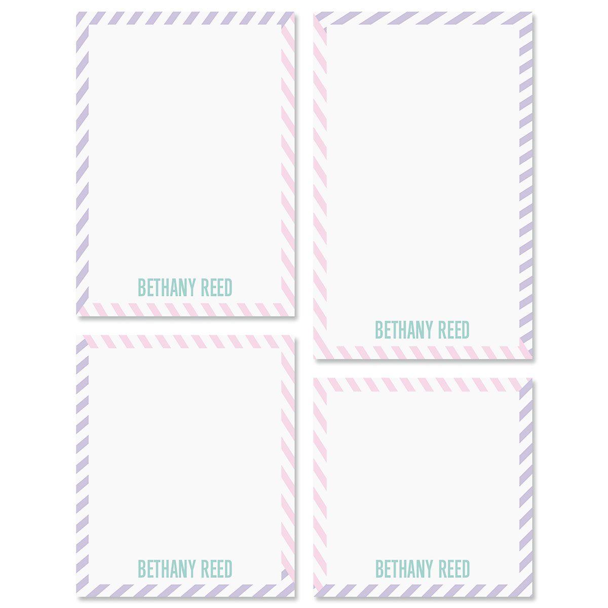 Pastel Lines Note Pad Sets