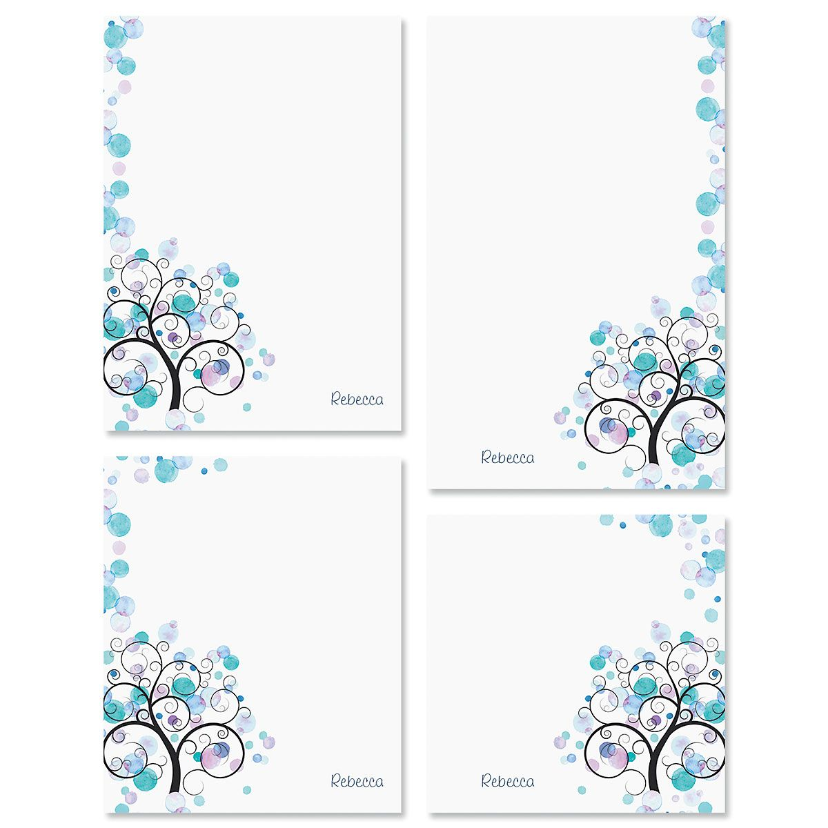 Watercolor Tree Note Pad Sets