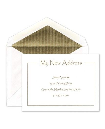 New Address Flat Card