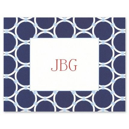 Navy Bamboo Rings Note Card