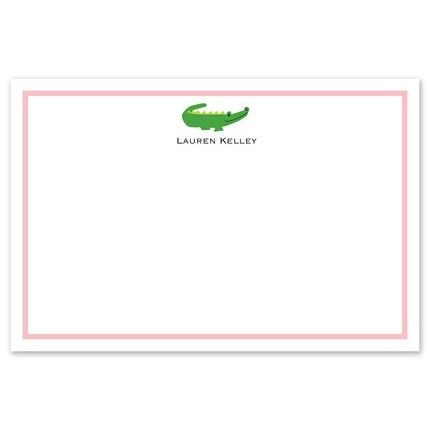 Horizontal Gator Flat Card
