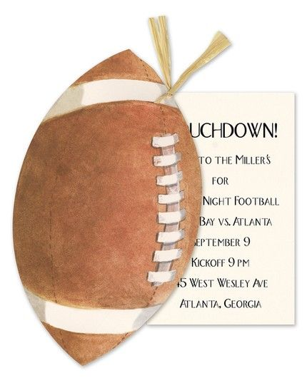 Football & Raffia Invitation