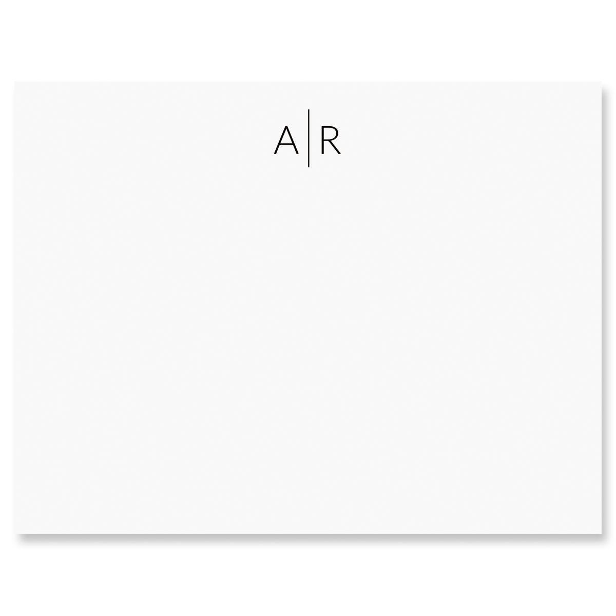 Divided Monogram Flat Card
