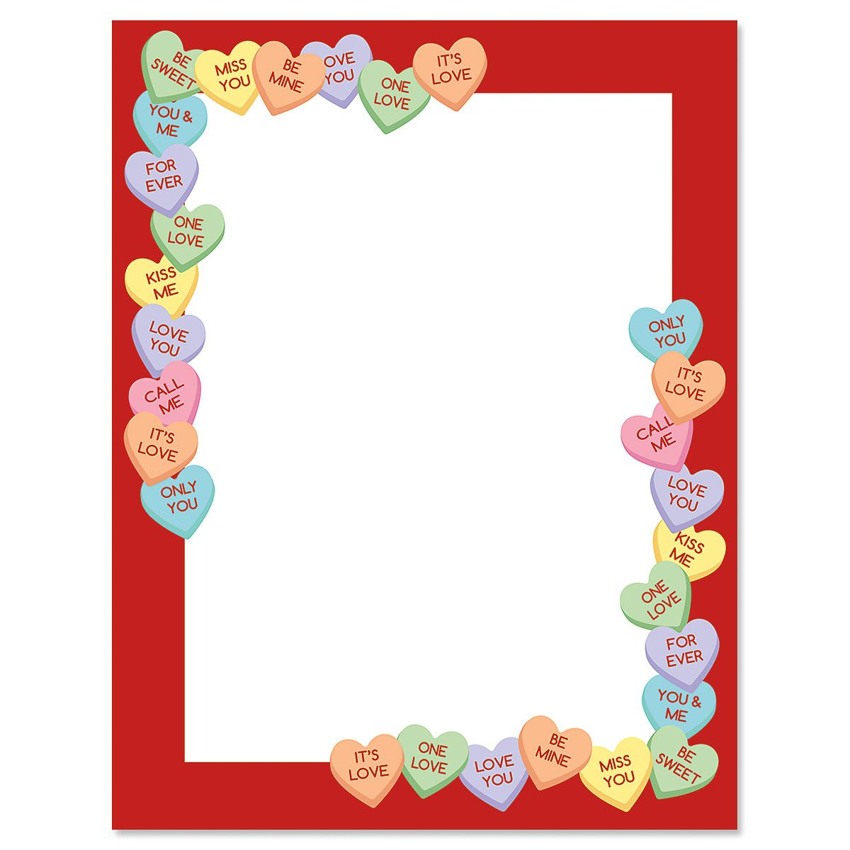 Letter Paper Candy Heart's