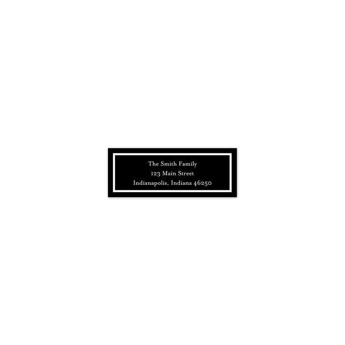 Classic Black Address Label