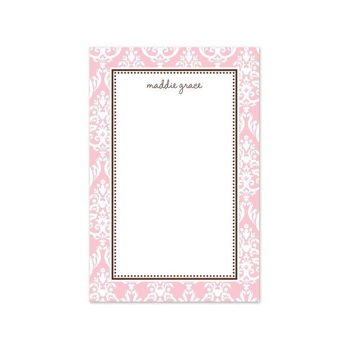 Pink Damask Note Pad