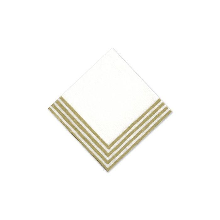 Gold Stripe Cocktail Napkin