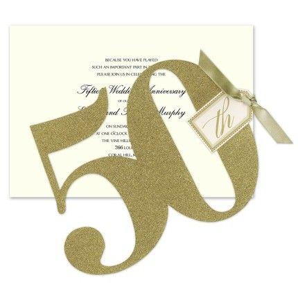 Glittered 50th Invitation