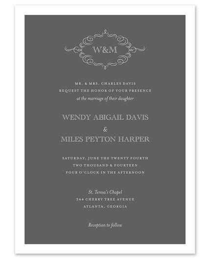 Sophisticated Invitation