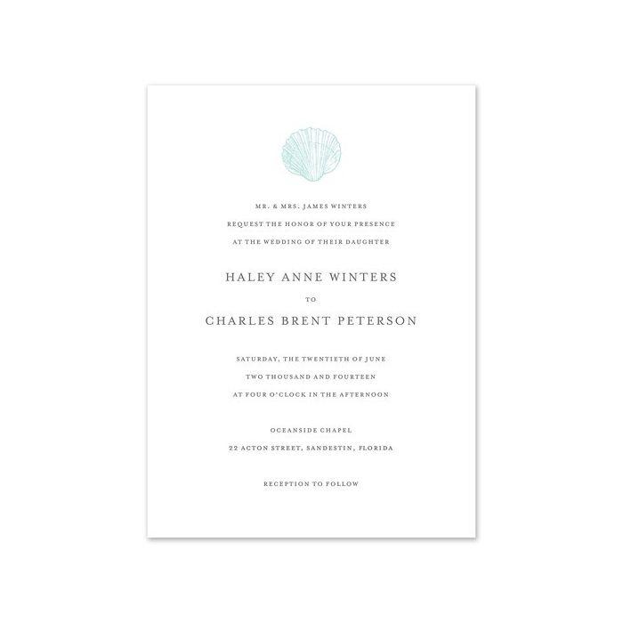 Seaside Wedding Invitation
