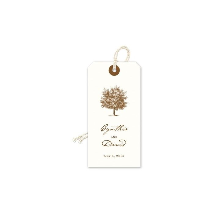 Oak Tree Gift Tag