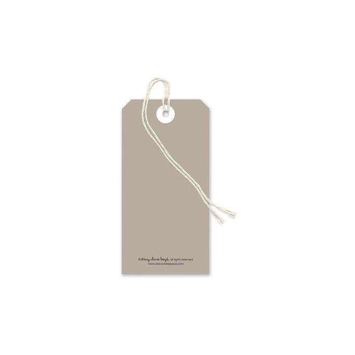 Taupe Gift Tag