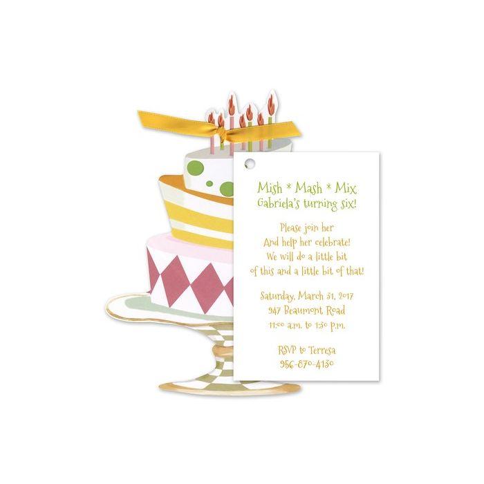 Whimsical Cake Invitation