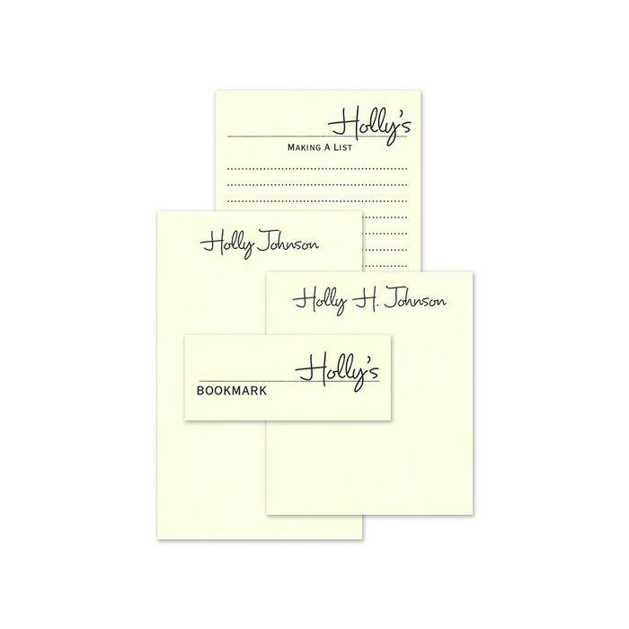 Ecru Memory Note Pad Set