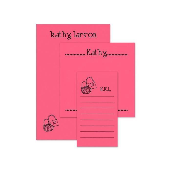 Pink Motif Note Pad Set