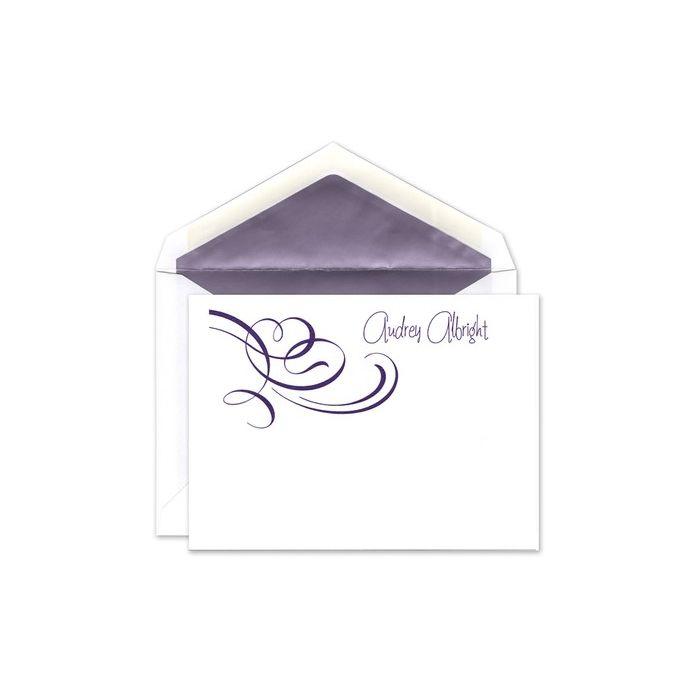 Whimsical Swirls Flat Card