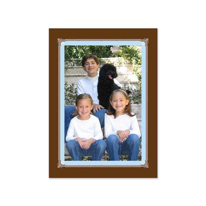 Blue & Brown Photo Card