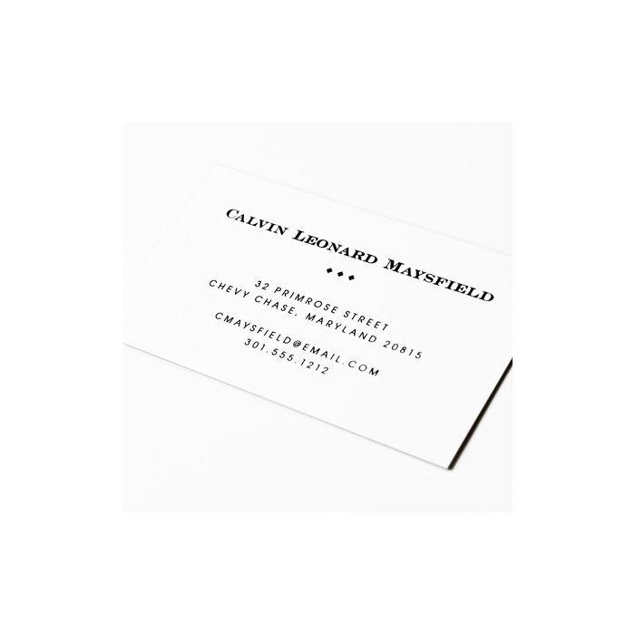 Classic White Calling Card