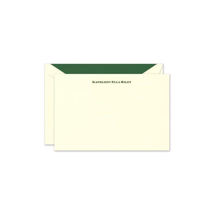 Classic Ecru Flat Card
