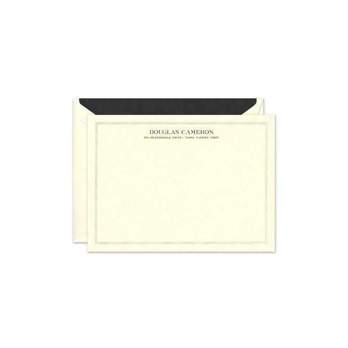 Bordered Ecru Flat Card