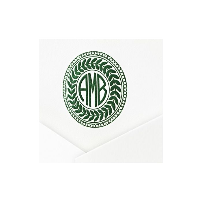 White Lettra Note Card