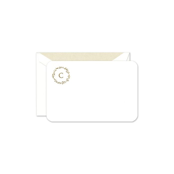 Rounded White Flat Card