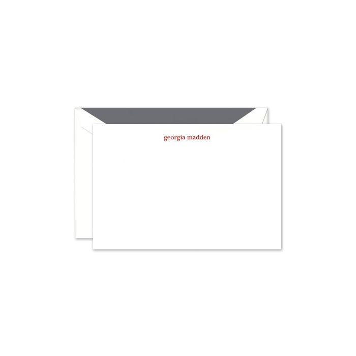 White Plain Flat Card