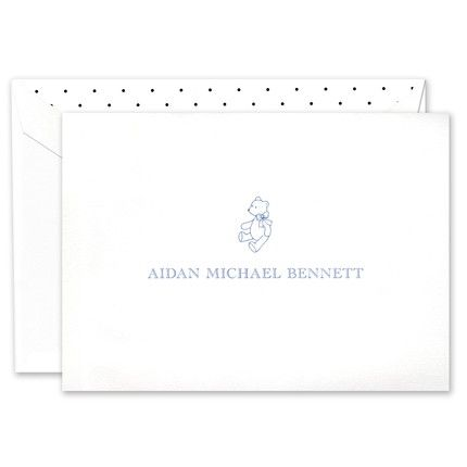 White Baby Note Card