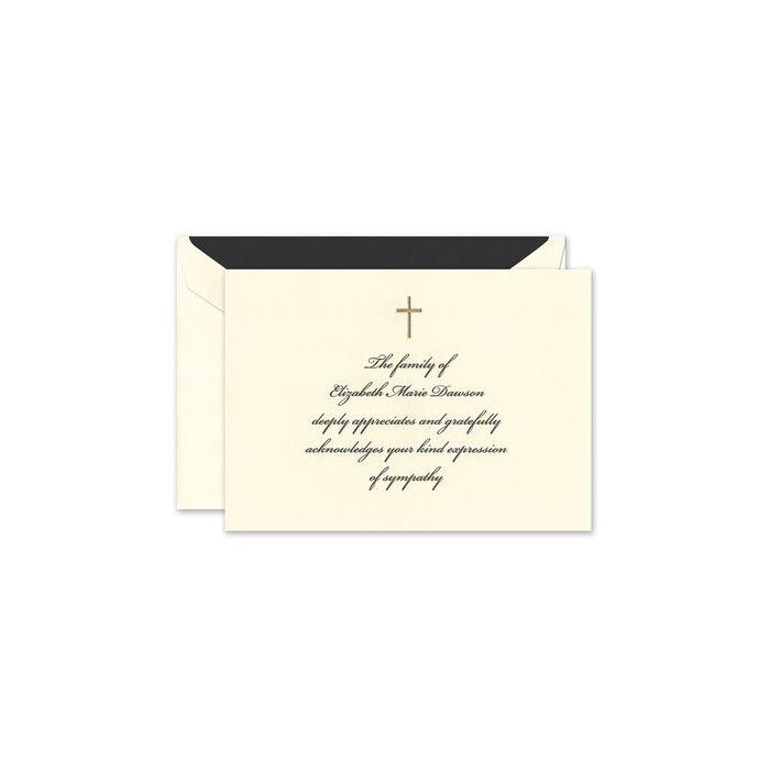 Ecru Folded Card